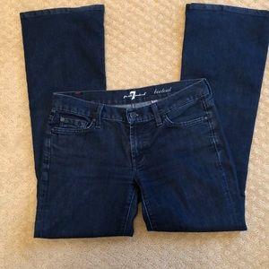 7 For all mankind boot cut petite denim Jean